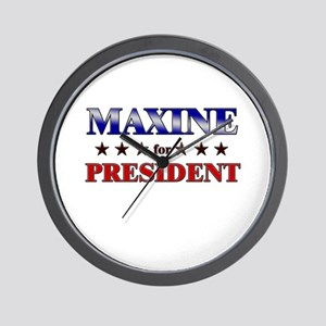 MAXINE for president Wall Clock