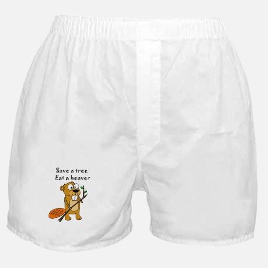 Funny Beaver Boxer Shorts