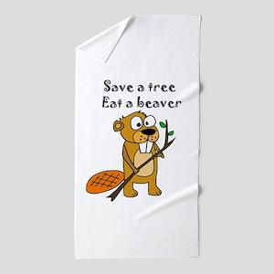 Funny Beaver Beach Towel