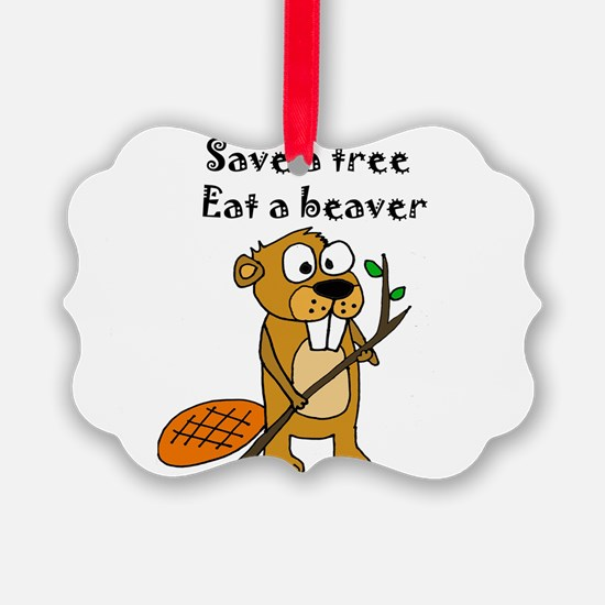 Funny Beaver Ornament