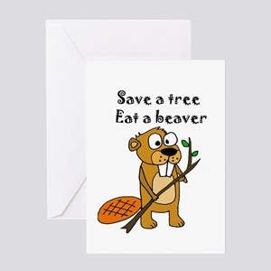 Funny Beaver Greeting Cards