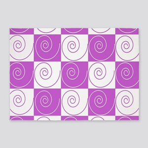 Violet Mousey Tails 5'x7'Area Rug