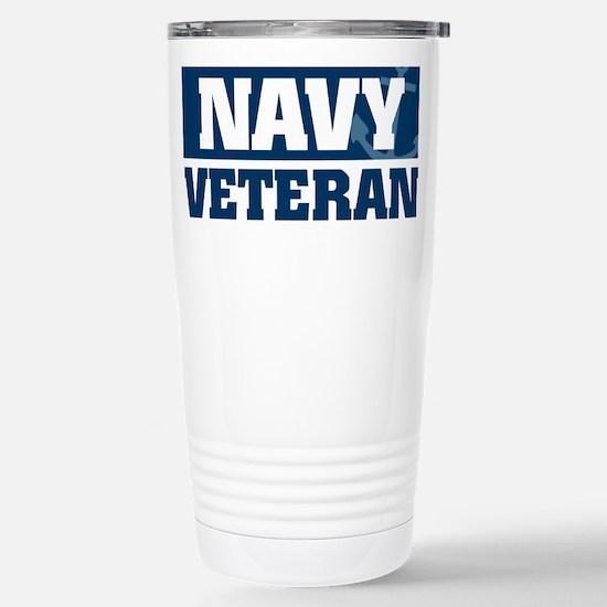 US Navy Veteran Stainless Steel Travel Mug