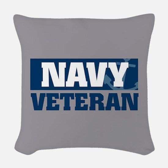 US Navy Veteran Woven Throw Pillow