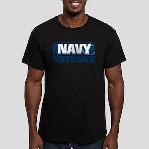 US Navy Veteran Men's Fitted T-Shirt (dark)