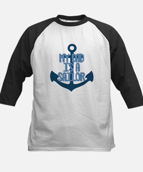 US Navy My Dad is a Sailor Kids Baseball Jersey