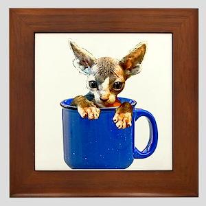 Cute kitten Framed Tile