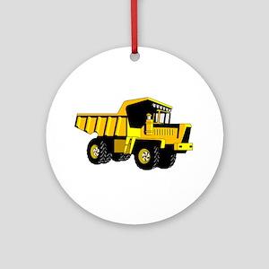 Dump Truck Round Ornament