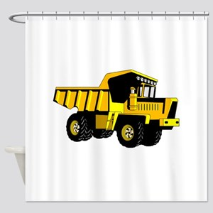 Dump Truck Shower Curtain