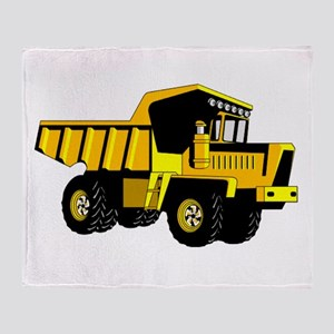 Dump Truck Throw Blanket