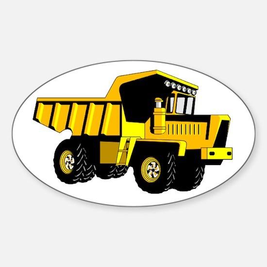 Dump Truck Sticker (Oval)