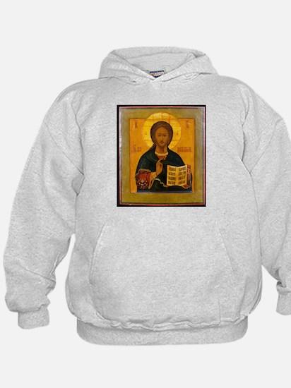 Jesus Christ Russian Icon Hoodie