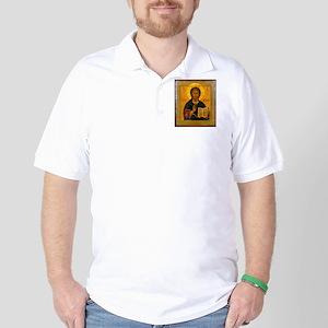 Jesus Christ Russian Icon Golf Shirt