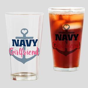 US Navy Girlfriend Drinking Glass