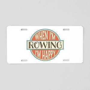 happy rower Aluminum License Plate