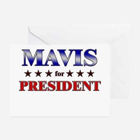 MAVIS for president Greeting Cards (Pk of 20)