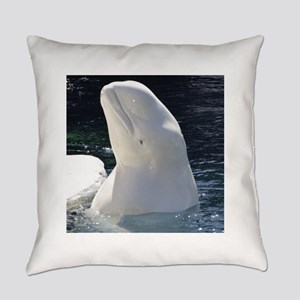 Beluga Whale Everyday Pillow