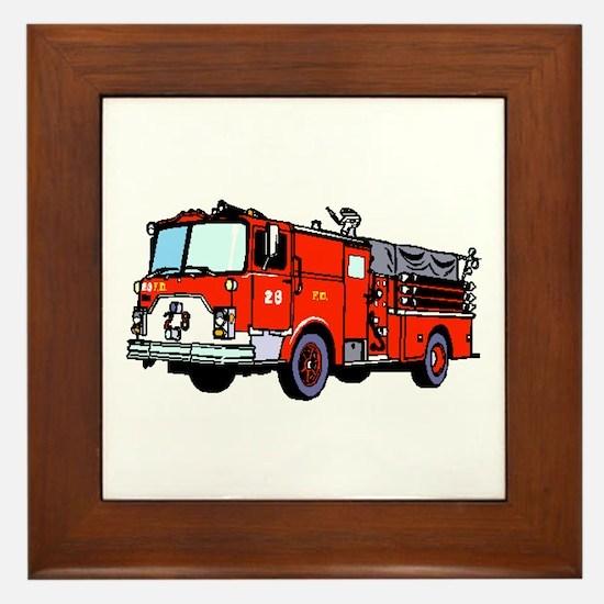 Fire Truck Framed Tile