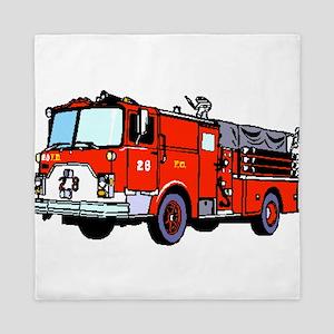 Fire Truck Queen Duvet
