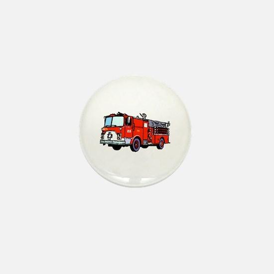 Fire Truck Mini Button