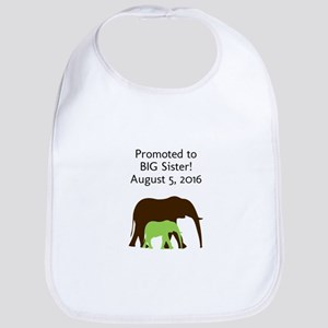 Promoted To Big Sister Elephant Bib