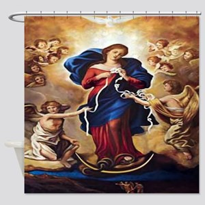 Our Lady of Knots Shower Curtain