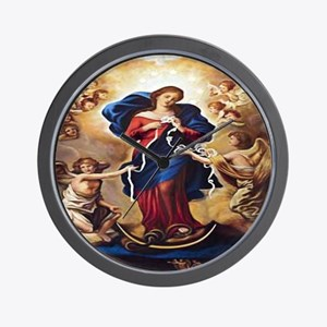 Our Lady of Knots Wall Clock