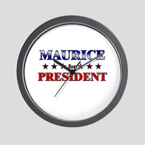 MAURICE for president Wall Clock