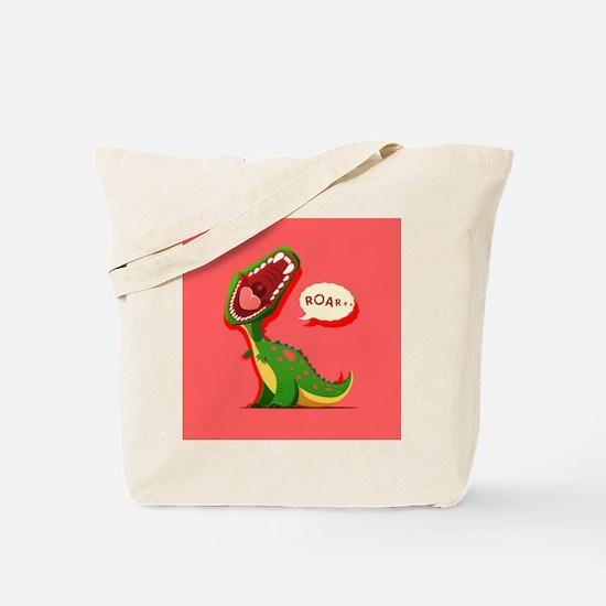 Cute Dinosaur Tote Bag