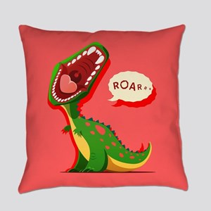 Cute Dinosaur Everyday Pillow