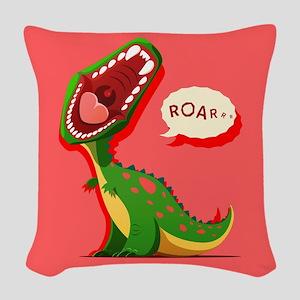 Cute Dinosaur Woven Throw Pillow