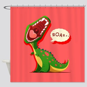 Cute Dinosaur Shower Curtain