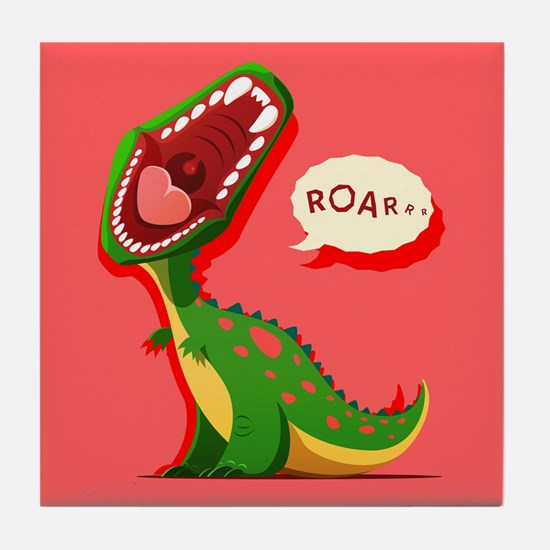 Cute Dinosaur Tile Coaster