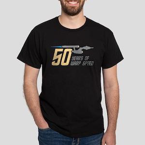 Star Trek 50 Years Warp Speed Dark T-Shirt