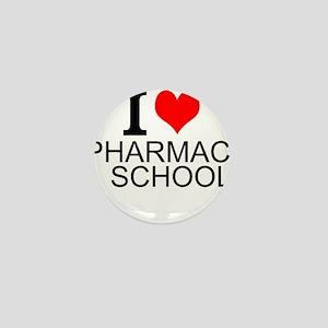 I Love Pharmacy School Mini Button
