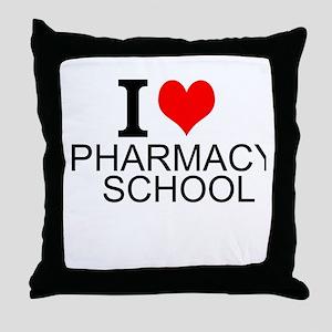 I Love Pharmacy School Throw Pillow