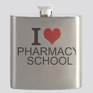 I Love Pharmacy School Flask