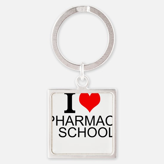 I Love Pharmacy School Keychains