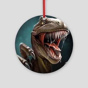 Velociraptor Round Ornament