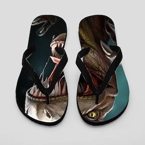 Velociraptor Flip Flops
