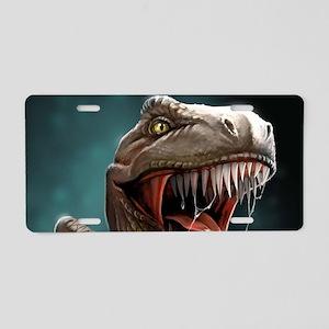 Velociraptor Aluminum License Plate