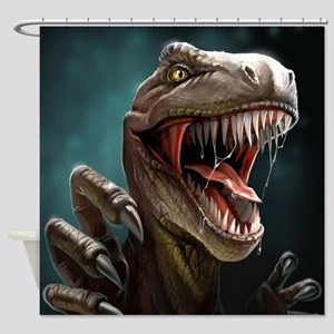 Velociraptor Shower Curtain