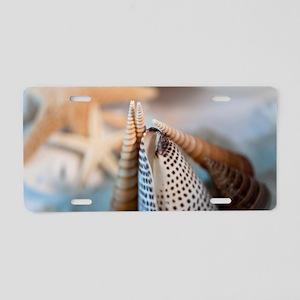 Sea Shells Aluminum License Plate