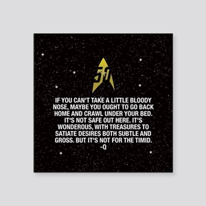"Star Trek 50th Not For The Square Sticker 3"" x 3"""