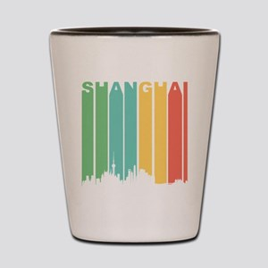 Retro Shanghai Cityscape Shot Glass