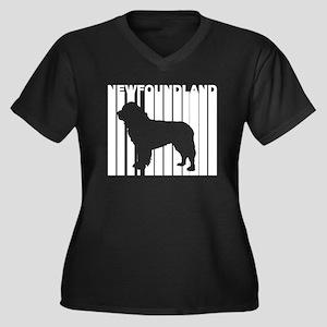 Retro Newfoundland Plus Size T-Shirt