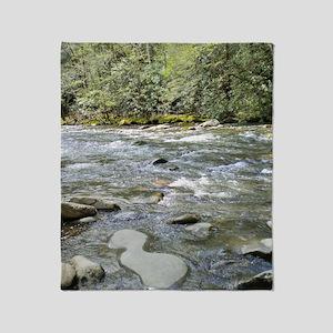 Mountain Stream - Great Smoky Mounta Throw Blanket