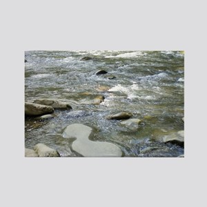 Mountain Stream - Great Smoky Mou Rectangle Magnet