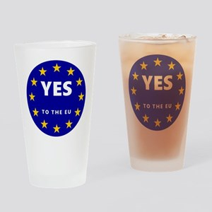 Yes to Europe! Drinking Glass