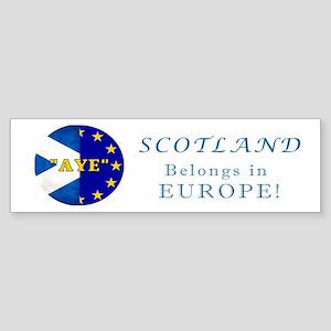 AYE to Europe! Sticker (Bumper)